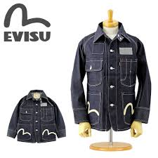 Evisu Jeans Size Chart Evisu Evisu Jeans Ejd 1119id 1119 Coveralls Indigo Denim Rigid Paint Jacket Non Wash Made In Japan Ebisu