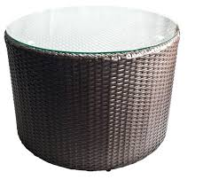 rattan coffee table with glass top outdoor wicker round coffee table with glass top tall round