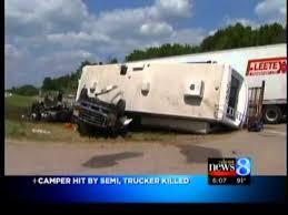 1 dead in semi, truck and camper crash - YouTube