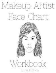 bol makeup artist face chart workbook sarie smith 9781523878451 boeken