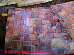 Armstrong Bradford Brick / Congoleum Red Brick or White Brick Pattern Vinyl  Sheet Flooring Asbestos Content Test Results