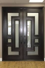 Double Entry Doors For Home Having Large Measurements : Modern Black Double  French Door Design With Glass Decoration Ideas For Home With Large  Measurement ...