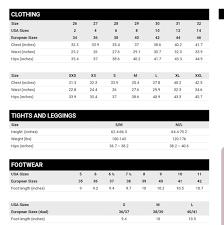Zara Kids Size Chart Zara Womens Size Chart Reference Nwt