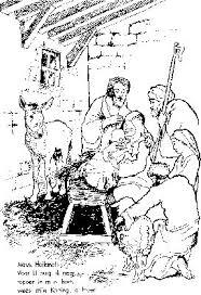 Kleurplaten Nt De Herders Op Kraambezoek Bij Jezus