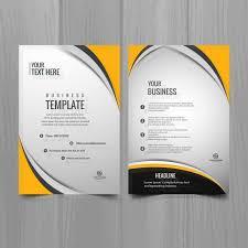 Creative Brochure Design Vector Free Download Modern Business Brochure Template Free Free Flyer