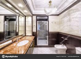 Interior Design Stilvolle Badezimmer Luxus Haus Stockfoto
