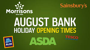 supermarket august bank holiday opening