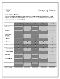 A Salary Comparison Chart Template Is Made To Compare And