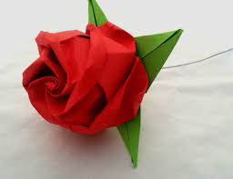 Origami Flower Paper Fold An Origami Rose 16 Steps