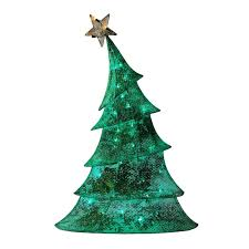christmas angel tree topper lighted how to decor 48 led lighted 2d green glitter mesh whimsical christmas tree yard