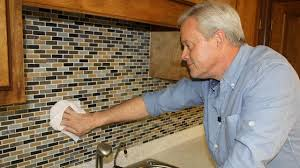 Installing Glass Mosaic Tile Backsplash Inspiration How To Install A Mosaic Tile Backsplash Today's Homeowner