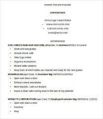 hostess sample resume hostess resume template 9 free word pdf documents