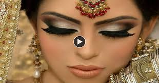 silver eye makeup look with pink lips beautiful