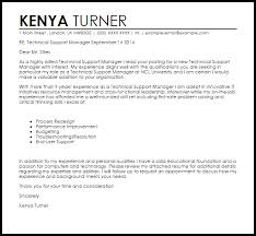 Technical Manager Cover Letter Technical Support Manager Cover Letter Sample Cover Letter