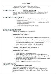 Certified Medical Assistant Resume Sample Back Office Assistant
