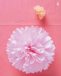 How To Make A Flower Out Of Tissue Paper Step By Step Pom Poms And Luminarias Video Martha Stewart