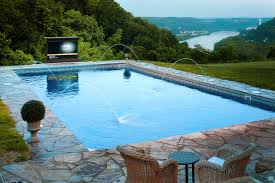 outdoor tv lifts pool