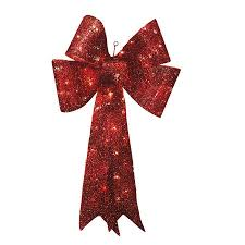 Lighted Holiday Bow Shop Holiday Living 36 In Lighted Mesh Bow Outdoor Christmas