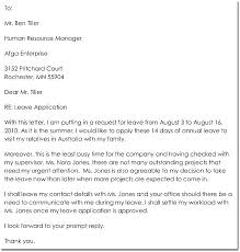 Leave Letter Format Urgent Emergency Sick Sample Thewhyfactor Co