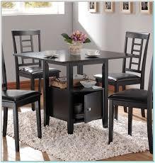 round kitchen table with storage underneath