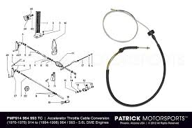 porsche fuel injection system parts by patrick motorsports 914 accelerator throttle cable conversion kit to 3 6l dme engine 964 993