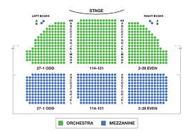 Music Box Theatre Seating Chart Dear Evan Hansen Guide
