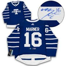 Leafs Sports Toronto Marner World A – Next Jers Mitch Century Arenas Adidas j Game Signed