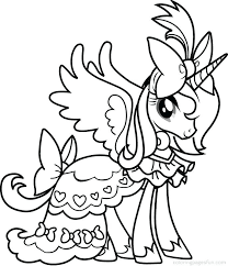 My Little Ponies Coloring Pages Twilight My Little Pony Coloring