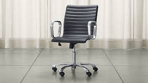 leather office. ripple black leather office chair o