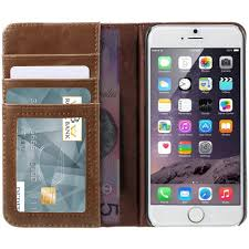 antique book leather wallet case for apple iphone 6 6s brown