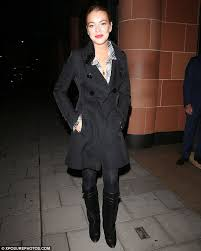 cute lindsay was well prepared for the cool autumn climes and wrapped up warm in