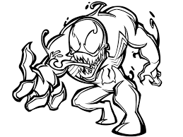 Small Picture Printable Venom Coloring Pages Coloring Me