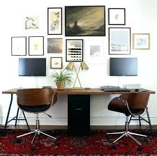 two desk home office. Long Wall Desk Home Office Best Two Person Ideas On 2 Good Gaming Mounted H