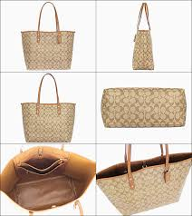 ... (Brown x Coach COACH ☆ bags (tote bag) F36126 36126 khaki saddle luxury  signature city Tote ...