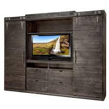entertainment wall units barn doors contemporary custom cabinet distressed drawers