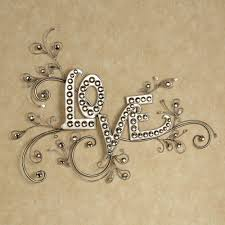 decorations sparkling love word wall art platinum silver metal wall decor scrollwork with acrylic gold