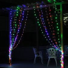 outdoor decoration 3m x 1m curtain icicle string led lights 220v new year garden xmas wedding party