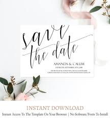 Save The Date No Photo Modern Save The Date Template C1