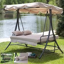 Outdoor 3 Triple Patio Deck Hammock Swing Bed ...