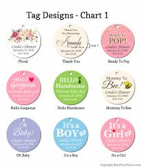 Baby Shower Name Tags Free Shipping Popular Designs Colors