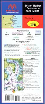 Maptech Waterproof Charts Maine Boston Harbor Entrance To York Me Waterproof Chart New