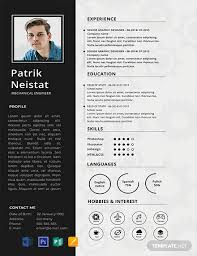 Resume Templates For Publisher Free Mechanical Engineer Resume Template Word Psd