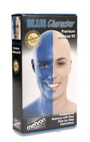 blue man makeup character kit mehron kmp bp