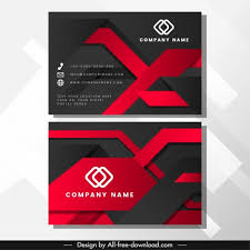 Namecard Format Business Card Template Luxury Abstract Modern Technology