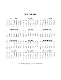 All pictures were taken this past… continue reading →. Printable 2014 Calendar