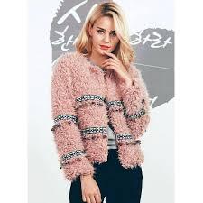 white fuzzy jacket winter faux lambs wool fringe women coat plus size short pink vintage warm