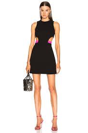 Neon Designer Dress Image 1 Of David Koma Side Waist Cutout Mini Dress In Black