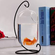 office fish tank. Hanging Glass Vase Creative Small Fish Tank Aquarium Bowl With Stand For Office Desktop Decoration And Metal Candle Holders Holder M