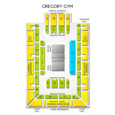 Gregory Gym 2019 Seating Chart