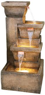 garden fountain amazing lighted water fountains outdoor